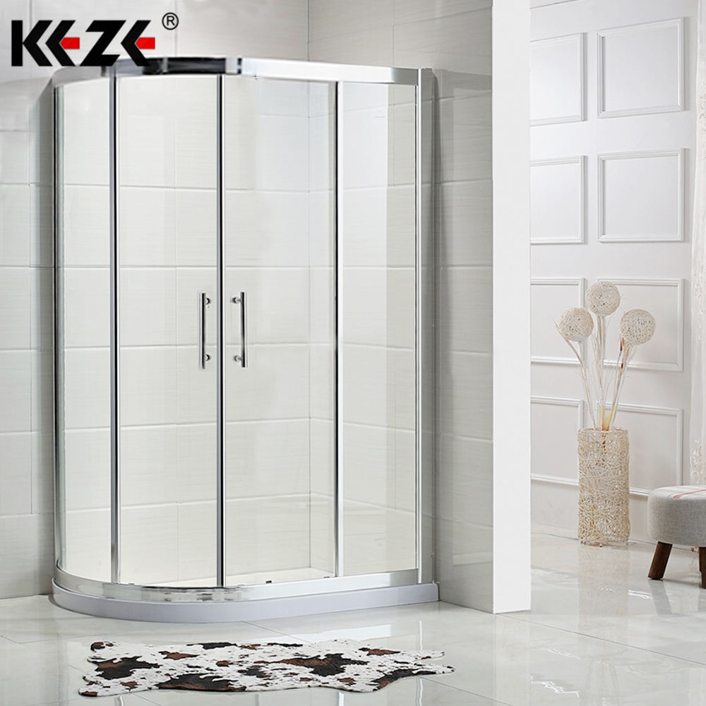 Sector Bath Room Product Portable Aluminium Bathroom Tempered Round Glass Toilet Bath Shower Cabin Production With Handle Shower Room Price In Pakistan