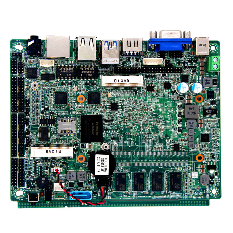 Industriale mini pc board con Apollo lago serie processor-N3350/N3450, a bordo di 4G di RAM, 6 * USB 6 * COM edp scheda madre
