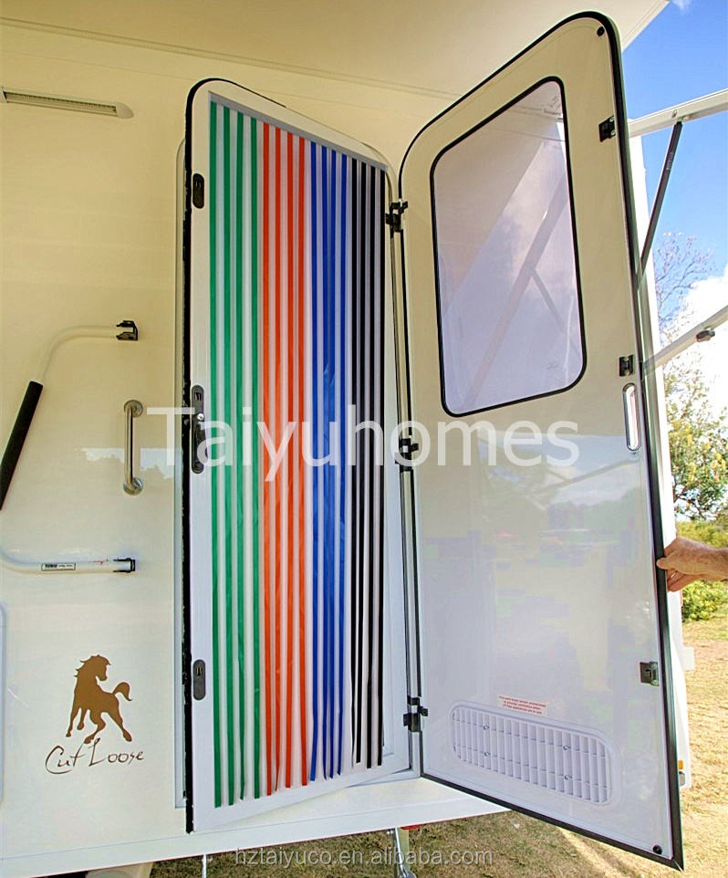 Caravan//RV Door Curtain,Bug Blind,Fly Blind,Strip Blind SILVER//WHITE Perfect for Caravans campers and RVs