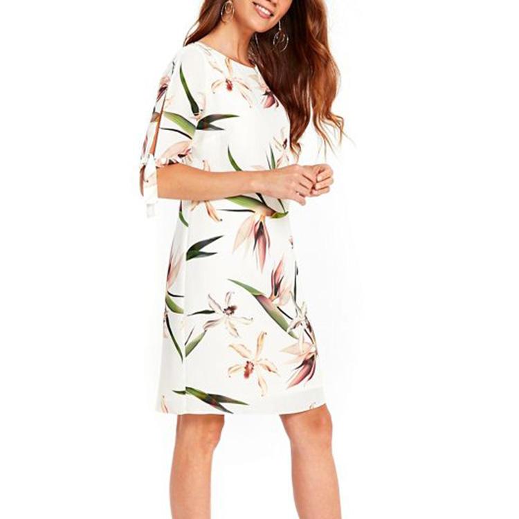 Wholesale Advance Apparel Dresses Floral Ivory Dress Ladies Advance Clothing Apparel For Women