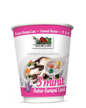 3 Minutes White Rice Porridge (Seaweed) - 40gm in food grade paper cup with ISO 22000, FSSC 22000, HACCP & Halal Certification