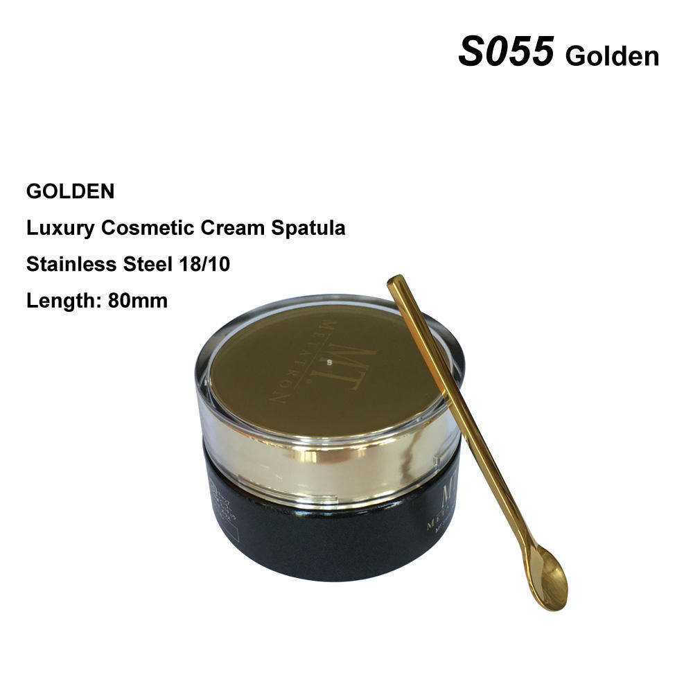 luxury gold stainless steel face cream applicator