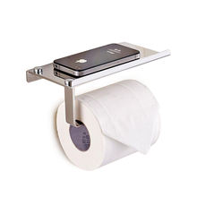 Factory toilet spare roll holder/toilet paper holder with phone shelf