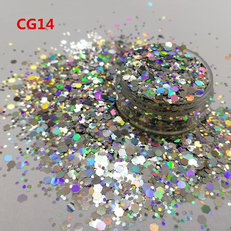 Wholesale bulk mixed chunky glitter for nails art and body