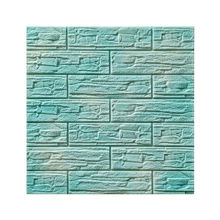 xpe foam culture stone pattern 3d  mint blue  wall sticker for home office