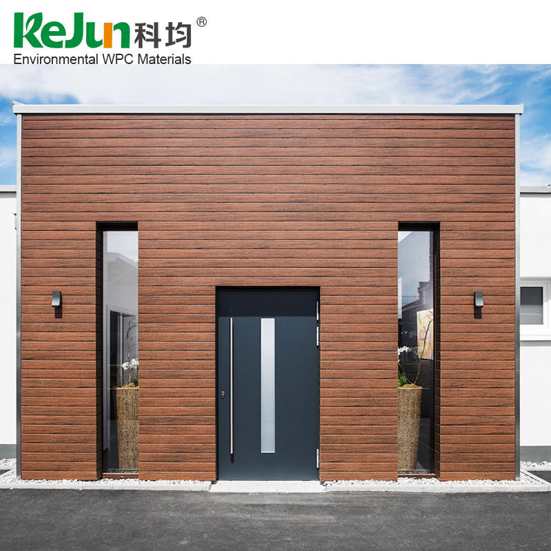 Deep embossing multi colors option cheapest exterior wood plastic composite wall panel material WPC wall cladding