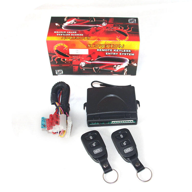 Factory price universal milano car alarm and keyless entry system with central locking system