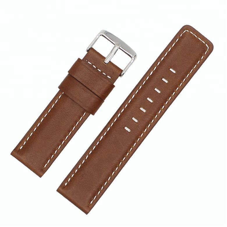 Vintage Oil Wax Real Leather Water Proof Watch Band Soft Watch Strap