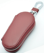 Topbest genuine leather car key wallet cover bag key case