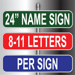Logo Printed Long Life Street Name Signs For Sale