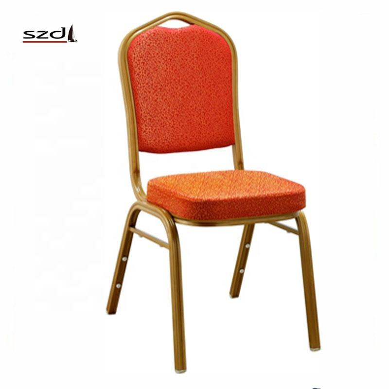 Wholesale cheap prices fabric cover metal frame banquet chair for sale