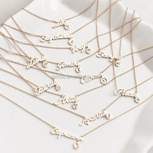 Newest Horoscope Necklace Design Women Girls Name Necklace Zodiac Sign Necklace Stainless Steel Jewelry