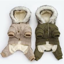 New Thickness Hooded Driver Style Cotton Winter Pet Dogs Four Legs Coat