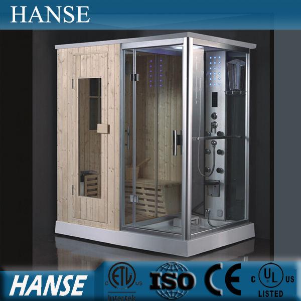 Terapia de sauna de vapor HS-SR013/sala de vapor sauna/combinación equipado con sauna y baño de vapor