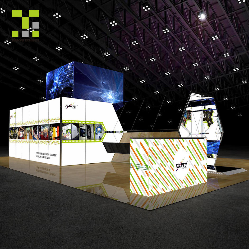 Trade show exhibition services by booth ALuminum modular system