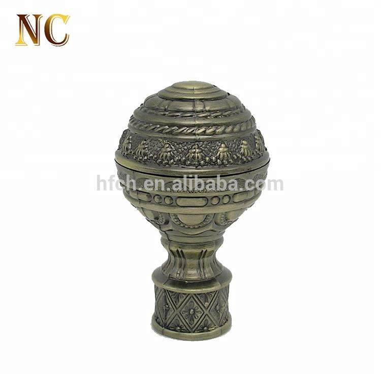 Wholesales price long rust proof curtain rod finials
