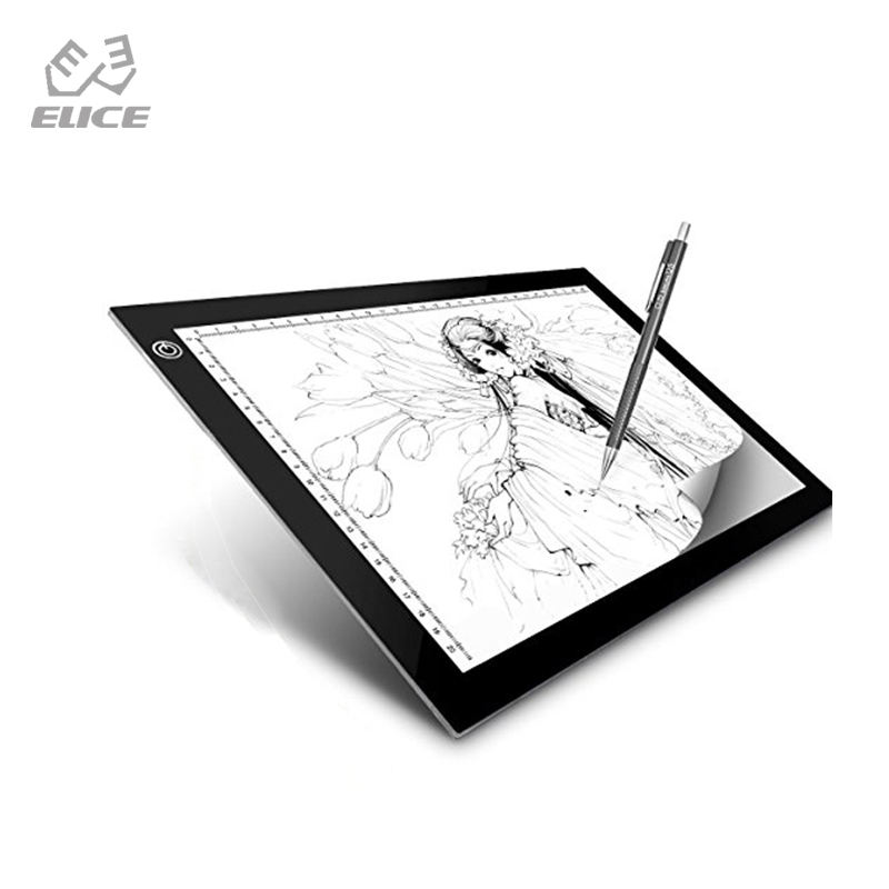 A4 JISHENGKE Digital Graphic Tablet A4 LED Artist Thin Art Stencil Drawing Board Tracing Portable Electronic lighting Tablet