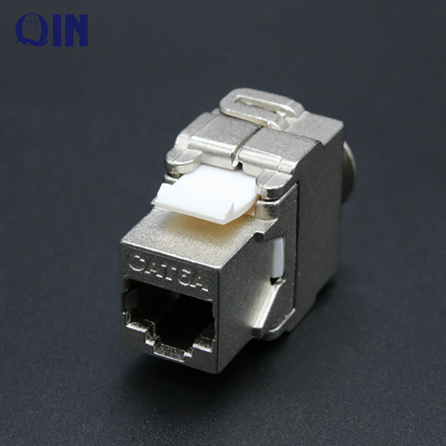 CAT6 CAT6A מסוכך רשת מודול RJ45 8P8C שקע Cat6 FTP keystone שקע