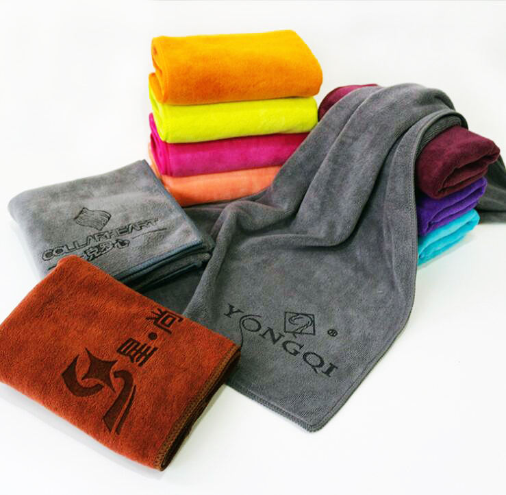 Wholesales customized microfiber face towel Weft knitting towel for face, hair, salon and hotal. 35x75cm