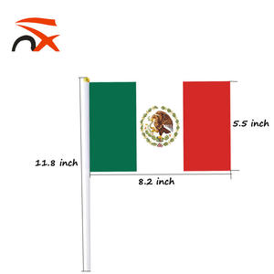 Wholesale world cup 14*21cm Mexico country hand held wave flag