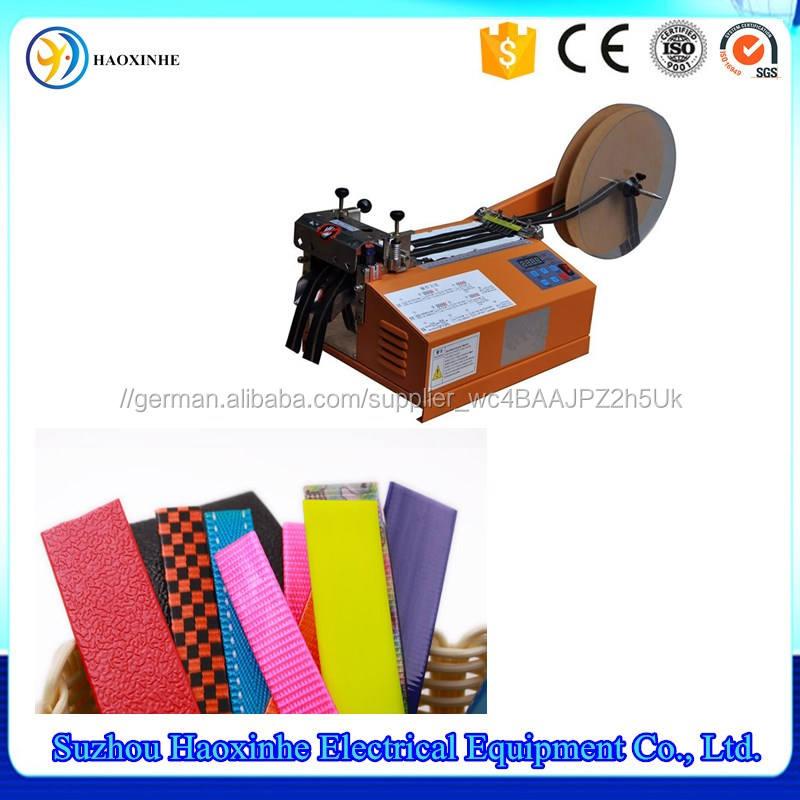 Automatische heiß kalt messer klettband schneidemaschine ausrüstung