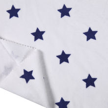 Star printed cotton polyester cvc velour fabric
