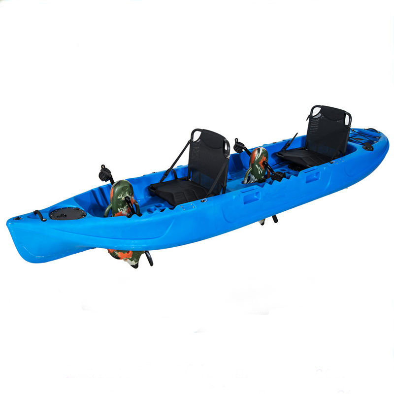 LLDPE material double seats sea kayak fishing with pedals