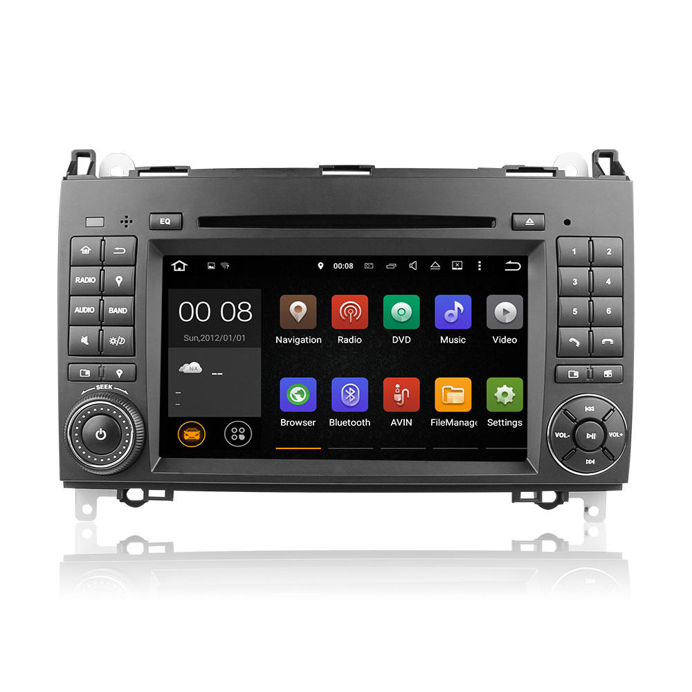 7''two din in-dash dvd-player (monitor) mit Kapazitiver Touch Screen auto navigation