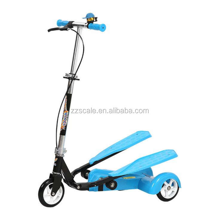 Wing Flyer fitness foot step dual pedal scooter for kids and adults kids 3 wheel scooter