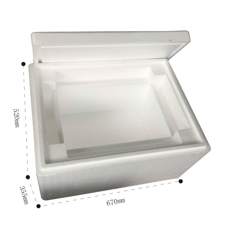 Styrofoam cooler box in EPS packaging boxes for seafood