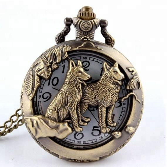 New Arrival Mixed Style Open-faced Cover Quartz Pocket Watch