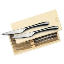 Mirror Polished Stainless steel 8-piece steak knife set