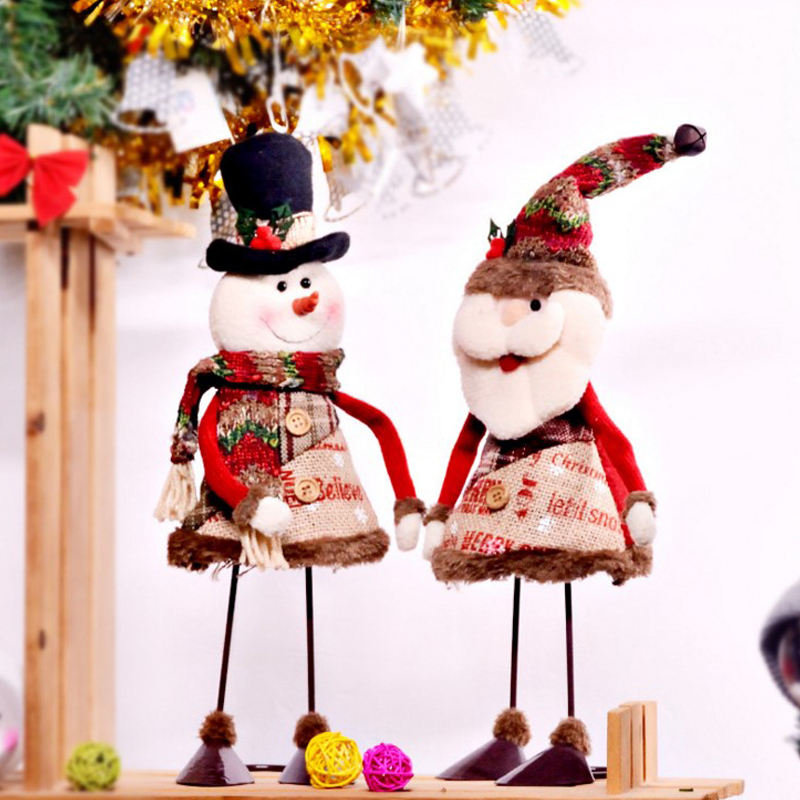 Hot Sale Creative Dynamic swinging Santa snowman ornaments Model For Christmas Decoration