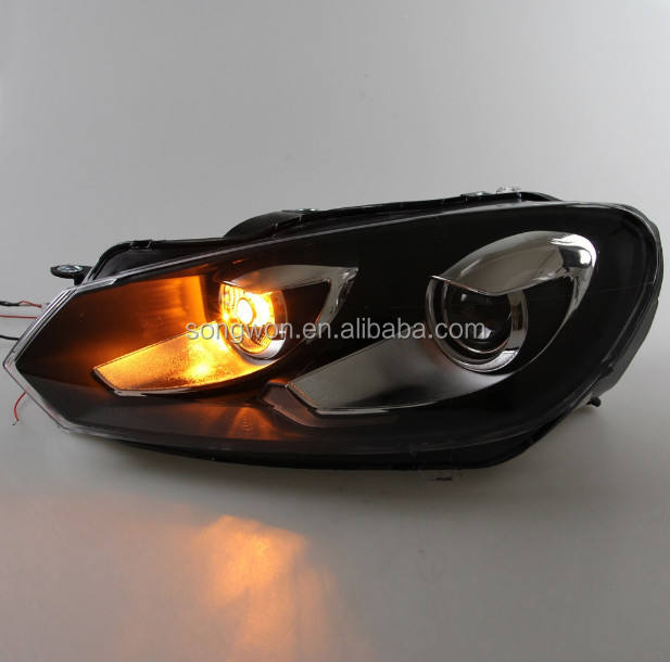 auto parts car front lamp/headlights for golf 6 GTI/golf VI/MK6