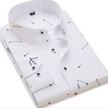 Hot sale factory wholesale slim fit work wear Custom Design printing formal senior business Men dress Shirt