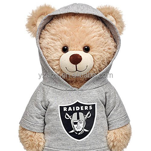 Plush Cute Teddy Bear in Workshop Hoodie