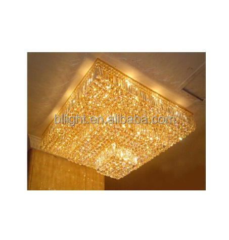 New design decoration crystal chandelier modern asfour square ceiling light
