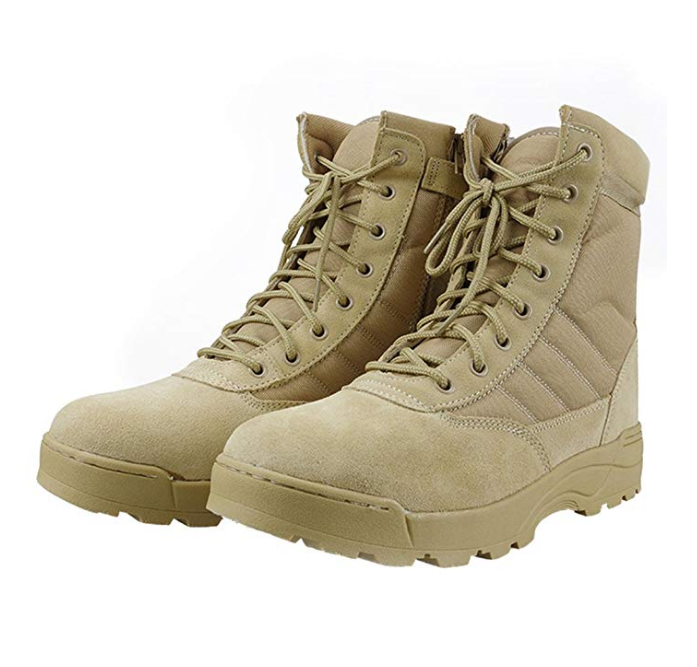 TSB09 Sand desert Suede tactical bombat boots light weight jungle boots breathable heavy duty long lasting tactical boots