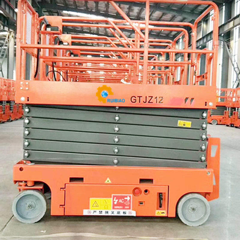 Mobile scissor lift electric hydraulic scissor lift with four wheels