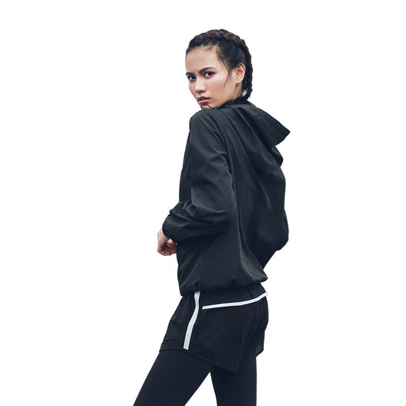 Ptsports wholesale high quality cool Industrial style black casual hoodie sports fitness gym workout jacket