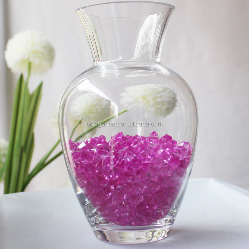 Acrylic Gems Diamonds Ice Rocks Chips Vase Fillers Table Vase Scatters for Wedding Centerpieces Party Decoration 10*10MM