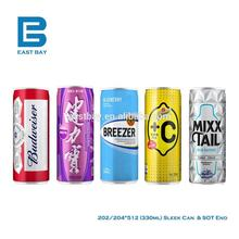Sleek 330ml Aluminum Beverage Can & End North American Brand Chinese Factory Price (FOB 1000sets Price Monthly renewed)