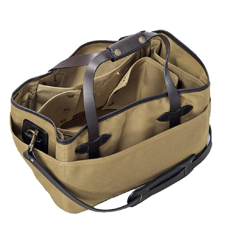 Twill Utility Tool Bag Heavy Duty Leather Tool Bag with Multi-function 16 OZ Canvas Tool Tote Bag