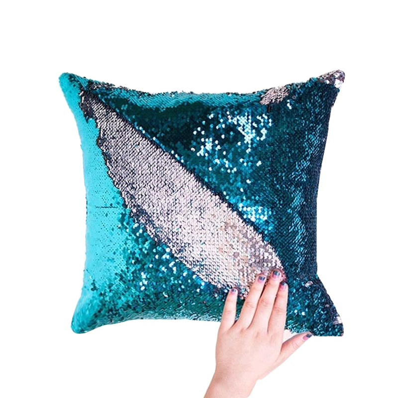 Cheersee magic sublimation christmas mermaid custom throw decorative emoji reversible sequin pillow for home