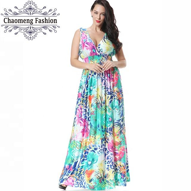 6041# Latest dress designs pictures curve floral wrap dip hem dresses xxxxl women plus size clothing