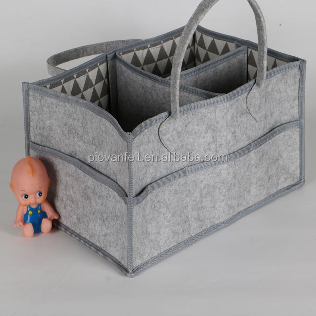 2018 Trend Bed Nursery Felt Diaper Caddy