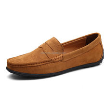 Men Soft Moccasin Driving Loafers Suede Leather Boat Shoes