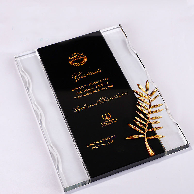 Good Quality Promotion Hot Selling Clear Tower Sublimation Crystal Blank Trophy Desk Nameplate