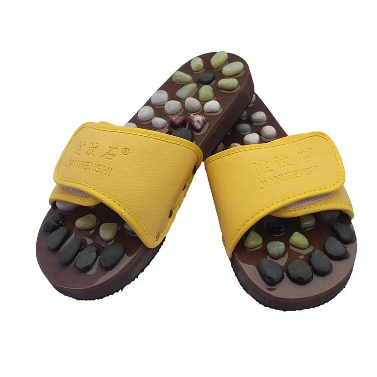 Soft model foot acupressure reflexology stone massage slipper