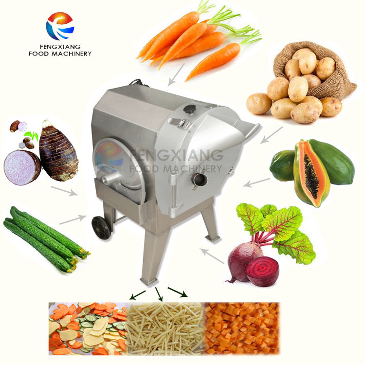 FC-312 Electric allround rhizome vegetable cutter ptotato dice cutting machine for industrial use